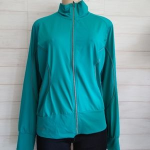 Casall women's athletic sport turquoise jacket